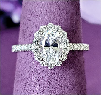 LILY ROSE OVAL DIAMOND RINGS at Midtown Jewelers
