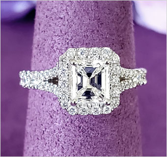 LILY ROSE SQUARE DIAMOND RINGS at Midtown Jewelers